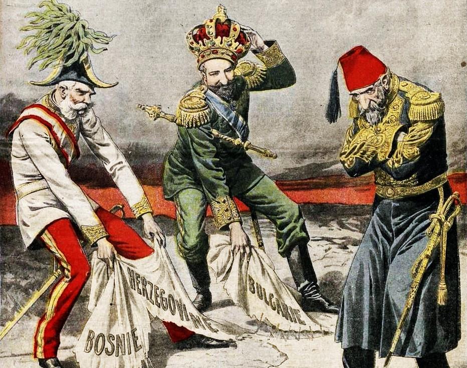 Das Osmanische Reich verliert seine Balkanprovinzen. Le Petit Journal, 1908
